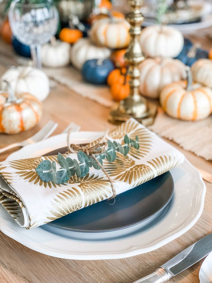 DIY Fall Tablescape with IrsaneousInteriors